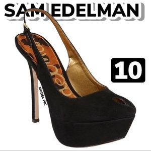 Sam Edelman Novato Suede Slingback Heels (10)